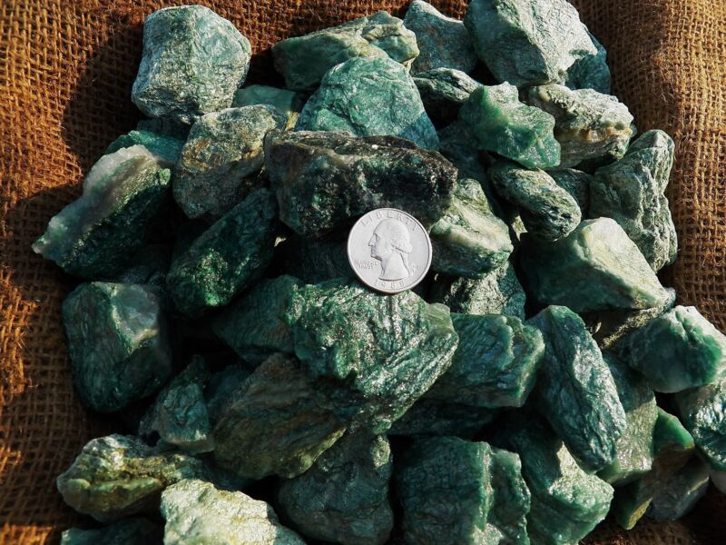 2000 Carat Lots of Fuchsite  Rough - Plus a FREE Faceted Gemstone