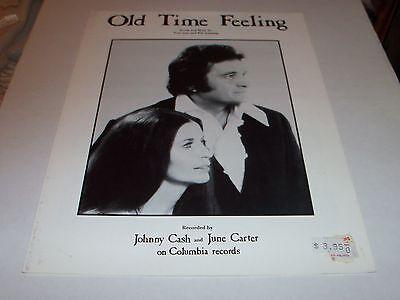 Johnny Cash/June Carter sheet music Old Time Feeling 1974 5 pages (VG+ shape)