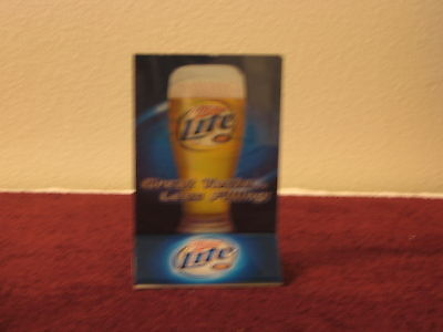 Lot Of 10 Table Tent Insert Holders Plastic Miller Lite