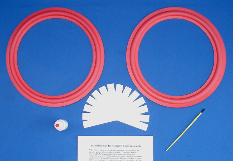 "Cerwin Vega 12"" / D-5 / D-6 / D-7 / DX-5 DX-7 Speaker Foam Surround Repair Kit"
