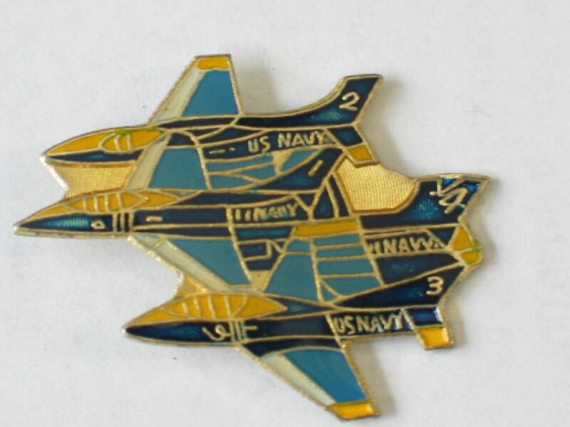 Blue Angel  Diamond Formation Jet Aircraft Airplane Pin  Vintage (**)*