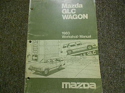 1983 Mazda GLC Wagon Service Repair Shop Manual FACTORY OEM BOOK RARE 83 83 Mazda Glc Wagon