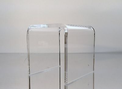 Clear Acrylic Square Riser Display Stand 4 X 4 X 4