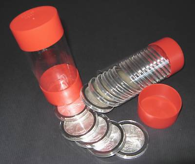 10 Air-tite Cap-Tube - Tite Coin Holders Model-i Silver Eagle Dollar Bullion Rd.