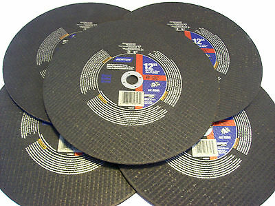 5 Norton 12 Chop Saw Metal Cut Off Wheel Blade 89357 20mm Grinding Gas Miter