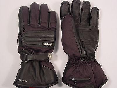 New Reusch Solaris Rtex Goatskin Black Leather Heated Ski Gloves #2888295  ()