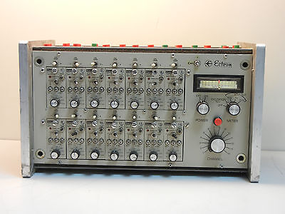 Ectron 4001y-m821 Used Enclosure With 14 Differential Dc Amplifiers 4001ym821