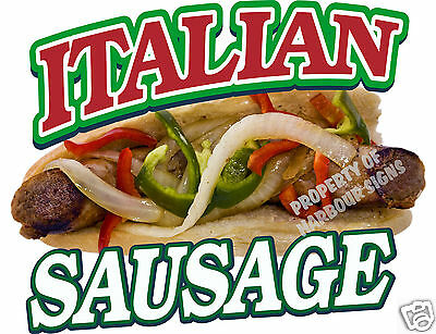 Italian Sausage Peppers Onions Sandwich Sub Concession Food Truck Menu Decal 14