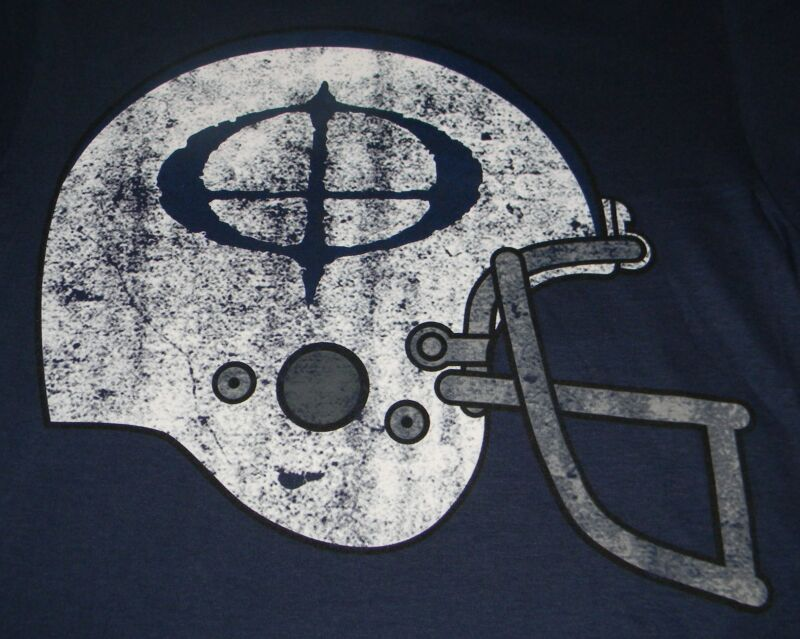 OZZY OSBOURNE Authentic Football Helmet BLUE T-Shirt X-LARGE, NEW W/ BACK PRINT