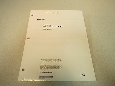 Tektronix Tla7pg2 Pattern Generator Probes Instruction Manual Appears Unused