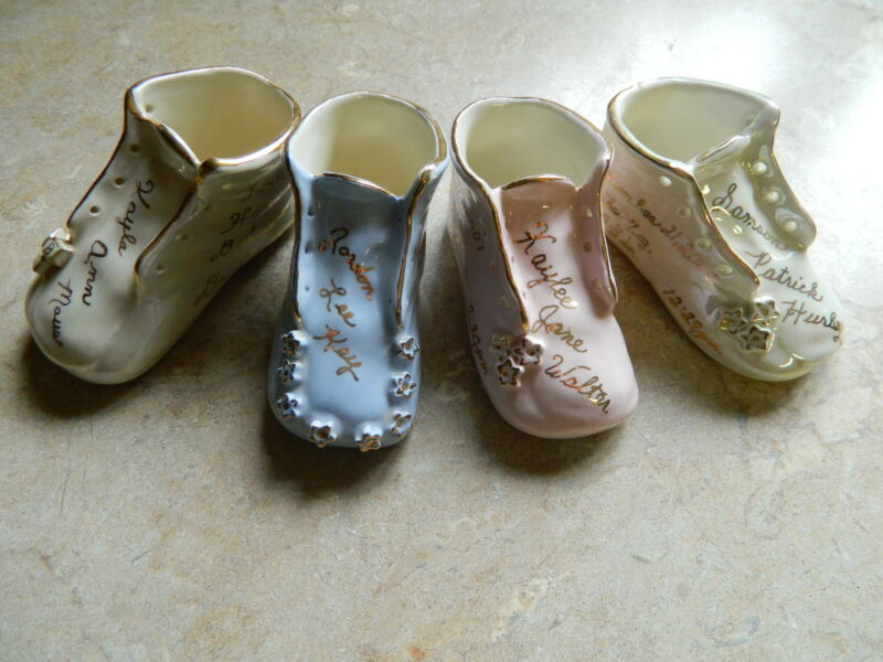 Personalized Traditional Ceramic Baby Shoe Keepsake