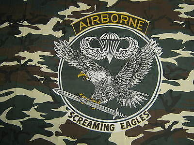 Army Surplus US Airborne Screaming Eagles Flag NEW