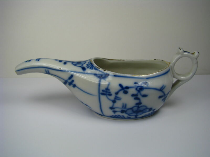 HAND PAINTED PORCELAIN PAP BOAT DISH Medicine/Pharmaceutical Thuringia Germany