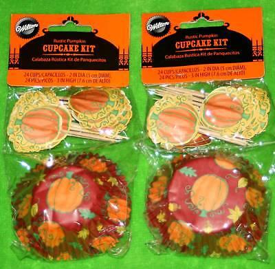 New Lot 48 Halloween Pumpkin Cupcake Backing Cups + - Pumpkins Halloween Pics