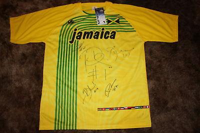 JAMAICA NATIONAL TEAM SIGNED 2010 REPLICA SOCCER JERSEY image