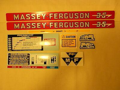 Massey Ferguson 35 Decal Set