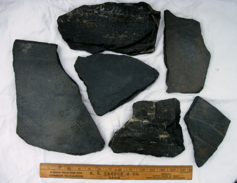 10 lbs Assorted Aquarium Grey Slate Stone Chunks From Buckingham County VA