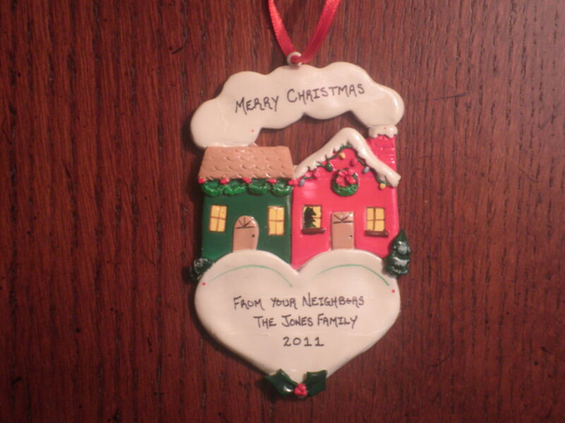 Personalized New Neighbors Home Christmas Ornament
