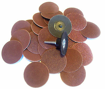 "25 IIT 3"" ROLOC ASSORTED GRIT R TYPE SANDING ABRASIVE DISCS ROLL LOCK W/MANDREL"