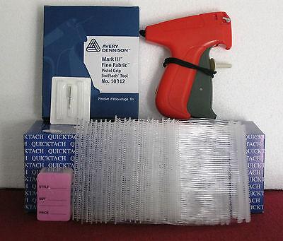 10312 Avery Dennison Fine Fabric Tagging Gun 5000 3 Clear Barbs 100 Price Tag