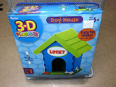 3D FOAMIES activity kit NEW Dog House building miniature foam model Darice