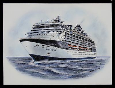 Original Art Work    Gts Millennium    Celebrity Cruises   Cruise Ship