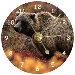 NEW Huge Grizzly Bear CD Clock