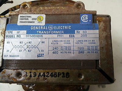 New General Electric Ge Transformer 9t58b1806 Gt8866 240v - 120v Single Phase