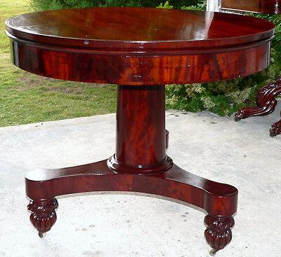 Mahogany Center Table - Center table, foyer, Classical Empire, mahogany, rosewood, 35