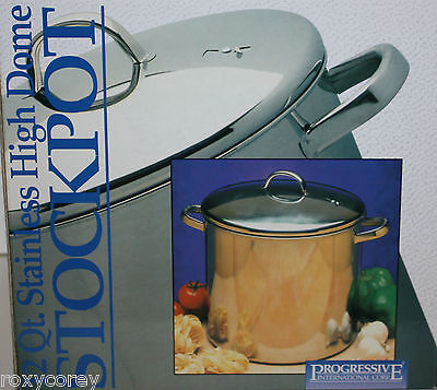 Progressive International Corp 12 Qt Stainless High Dome Stockpot Sphd 12 Nib