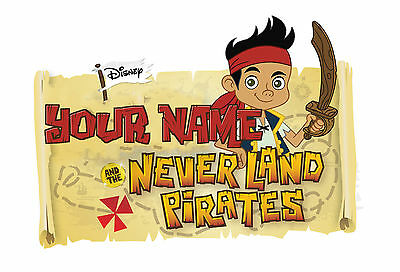 PERSONALISED JAKE AND THE NEVERLAND PIRATES IRON ON T-SHIRT TRANSFER STICKER lot (Jake And The Neverland Pirates T Shirt)