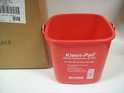- Lot of 12  San Jamar Red 97oz Kleen Pail Bucket KP97RDDON
