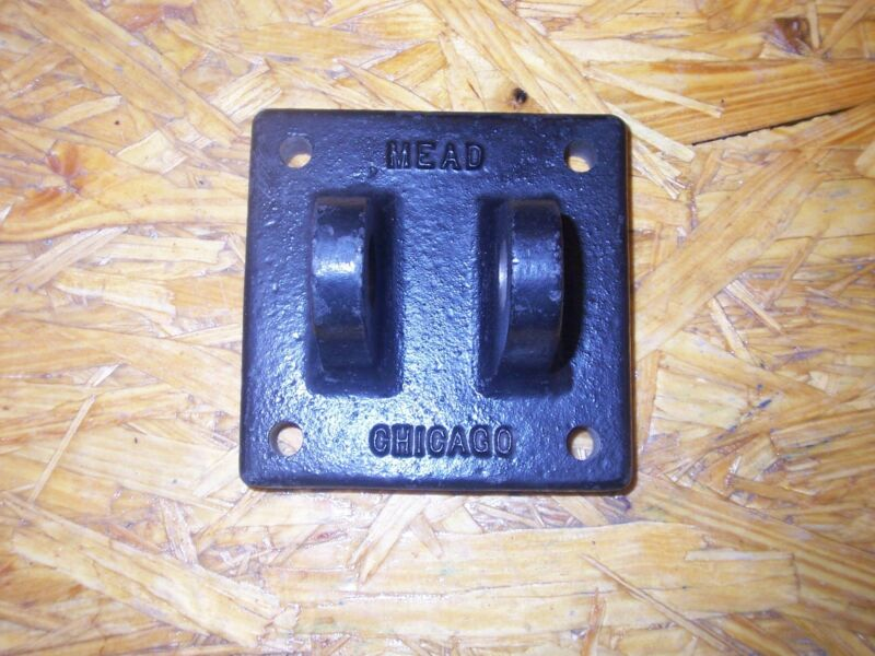 """new MEAD CHICAGO 2 TAB CYLINDER BRACKET 3/4"""" PIN OPENING"""