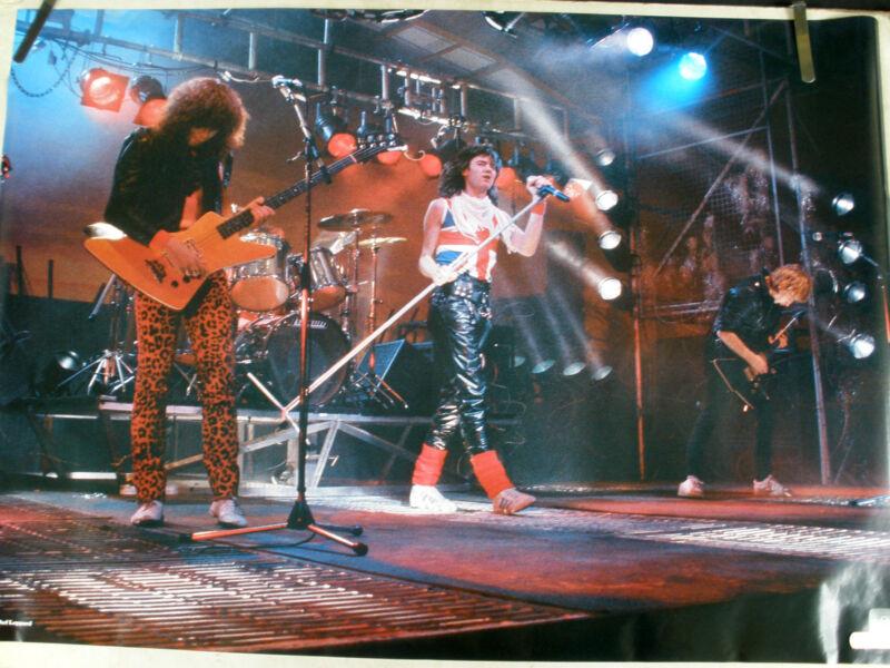 RARE DEF LEPPARD STAGE 1982 VINTAGE ORIGINAL MUSIC POSTER