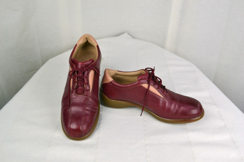 Derby shoes HOMERS Red Leather T 38 VERY GOOD CONDITION