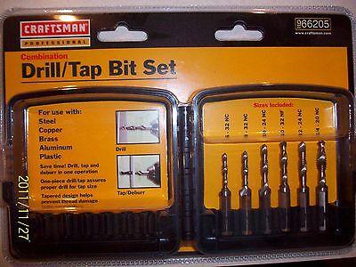 Craftsman 6 Pc. Drilltap Bit Set. Drill Tap New