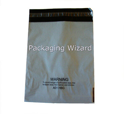 50 x Mailing / Postal Bags ~ Biodegradable ~ Grey ~ 10ins x 11.5ins ~Peel & Seal