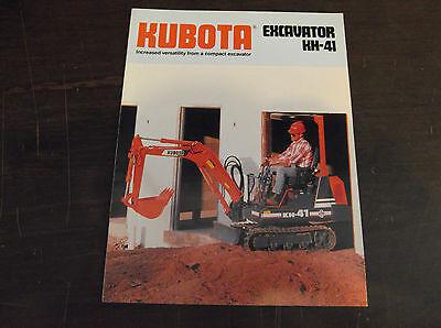 Kubota Kh-41 Compactmini Excavator Brochure 1989