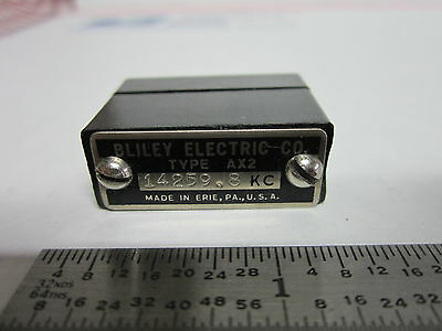 Vintage Wwii Bliley Quartz Crystal Ax2 14259.8 Kc Frequency Radio Amateur Ham