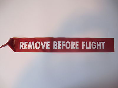 "REMOVE BEFORE FLIGHT STREAMER 12"" Long x 3"" Wide NAS1756-12 USA MADE WITH CERTS"