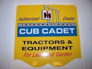 cub cadet decals ebay