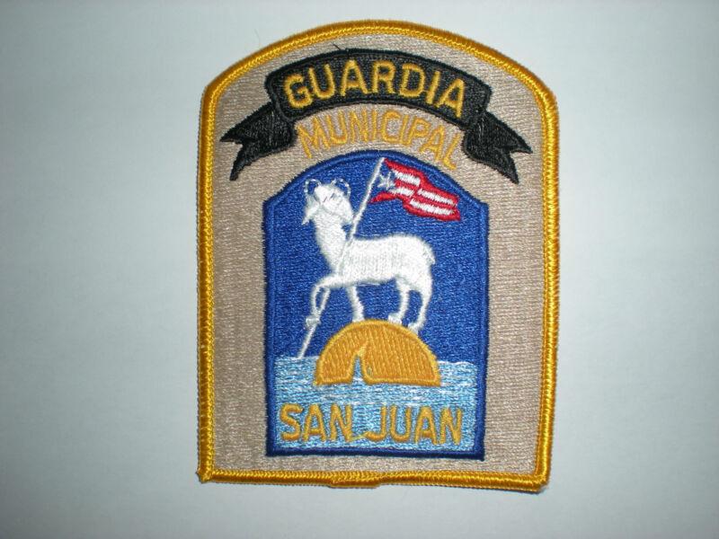 SAN JUAN, PUERTO RICO MUNICIPAL GUARDIA POLICE PATCH