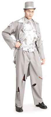 Dead Groom White Gray Ghost Costume Standard