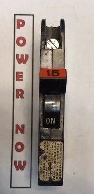 Federal Pacific Fpe Stab-lok Breaker 1 Pole 15 Amp 120v Thin - Ships Today