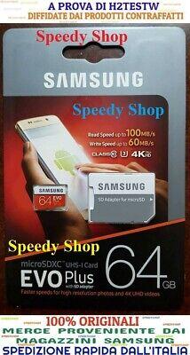 Samsung 64GB Microsd EVO Plus 64 GB class 10 micro SDXC 100MB/s memoria 4K HD U3
