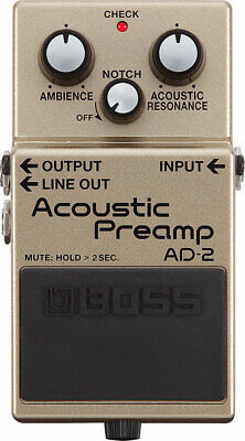 Boss AD-2 Acoustic Preamp Guitar Effects Pedal Stompbox