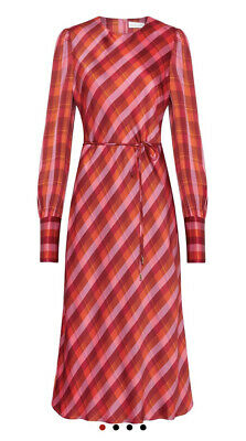 BNWT Rebecca Vallance Brinkley Long Sleeve Midi Dress RRP $699