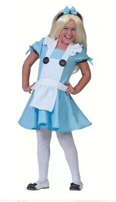 NEW Alice In Wonderland Costume Cosplay Fancy Dress Disguise Girls Small 6-7](Girls Alice In Wonderland Costume)