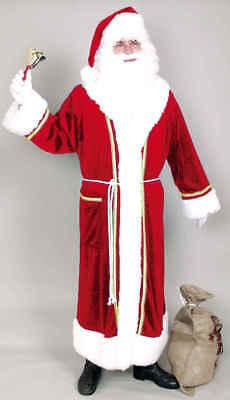 Weihnachten Nikolaus Herren Kostüm Weihnachtsmann Mantel in rot