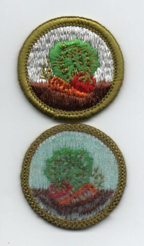 Gardening Merit Badge, Type H, Blue Back Version (1972-1975), Mint!